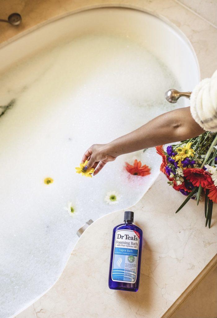 bubble bath, foam bath, relaxing